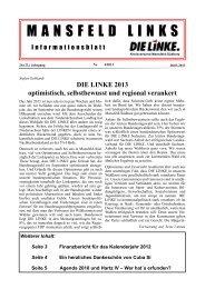 Ausgabe April 2013 - DIE LINKE. Kreisverband Mansfeld-Südharz