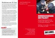 DEMOKRATISIERUNG DER POLIZEI?! - Die Linke NRW
