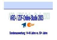 Online-Studie 2003 - Stiftung Digitale Chancen
