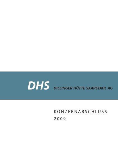 DHS Konzernabschluss (2009) - Dillinger Hütte GTS