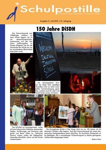 150 Jahre DiSDH - Deutsche Internationale Schule Den Haag