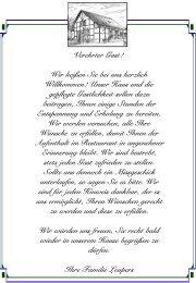Speisekarte - Giesenkirchener Hof