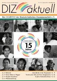 Der Newsletter der Deutsch-Indischen Zusammenarbeit e. V.