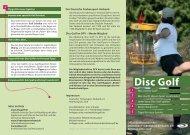 Broschüre über die Trendsportart Disc-Golf - DJH