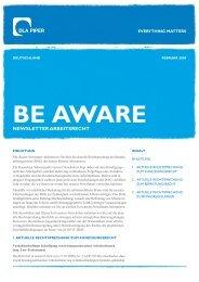 newsletter ArBeitsrecht - DLA Piper