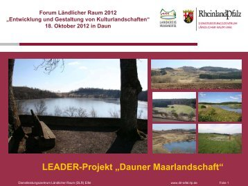 """LEADER-Projekt """"Dauner Maarlandschaft"""""""
