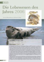 Die Lebewesen des Jahres 2006