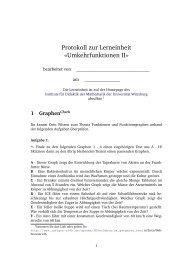 Protokoll (Papier) - Didaktik der Mathematik (Sekundarstufen)