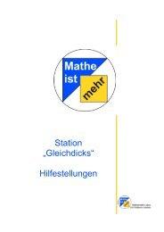 """Station """"Gleichdicks"""" Hilfestellungen"""