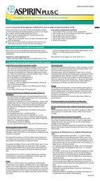 Beipackzettel Aspirin plus C Brausetabletten - DocMorris
