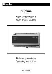 Bedienungsanleitung / Operation Instructions - Doepke