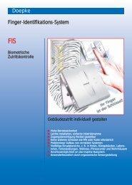 Prospectus on the finger identification system (format: PDF) - Doepke