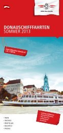 DDSG Fahrplan 2013 - Donau Niederösterreich Tourismus GmbH