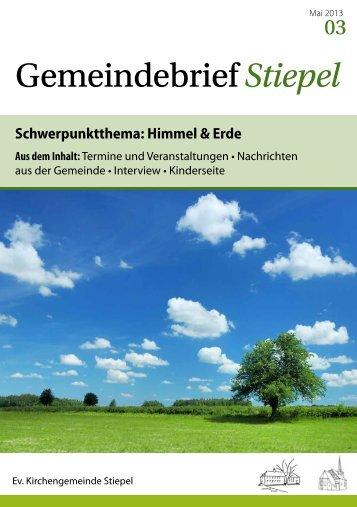 Gemeindebrief 03 - Dorfkirche Bochum-Stiepel