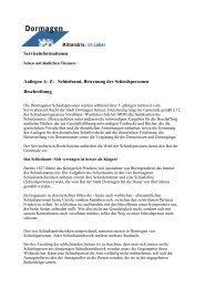 Schiedsamt, Betreuung der Schiedspersonen ... - Stadt Dormagen