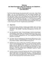 Satzung über die Erhebung von Gebühren für den ... - Stadt Dormagen