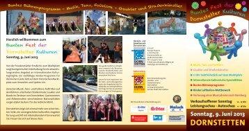 Flyer Buntes Fest - Dornstetten