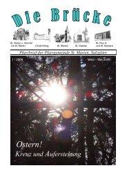 Pfarrbrief St. Marien SZ-2009-1-März-Mai-Seite 1-28 - Bistum ...