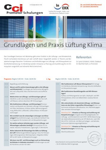 Grundlagen und Praxis Lüftung Klima - Fachverband Gebäude ...
