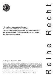 Urteilsbesprechung: - Fachverband Gebäude-Klima e. V.