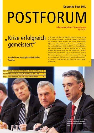 """Krise erfolgreich gemeistert"""" """" - Deutsche Post DHL"""