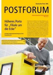"""Höheres Porto für """"Filiale um die Ecke"""" - Deutsche Post DHL"""