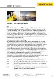 Factsheet GoGreen PDF - Deutsche Post DHL