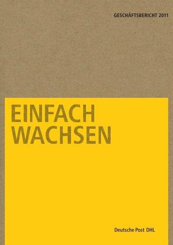 Geschäftsbericht 2011 pdf (5 MB) - Deutsche Post DHL