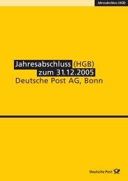 Jahresabschluss (HGB) - Deutsche Post DHL