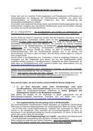 CARNITIN IM SPORT: Die Wahrheit - Dr. Kurt A. Moosburger
