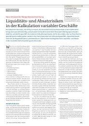 Liquiditäts- und Absatzrisiken in der Kalkulation variabler ... - Dr. Sievi