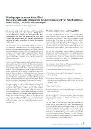 Überlegungen zu neuen Kennziffern - Dr. Sievi
