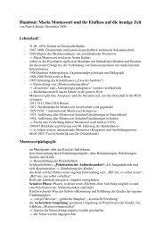 Handout: Maria Montessori und ihr Einfluss auf ... - Dr. Hans Toman