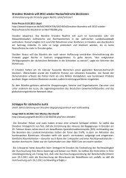 Dresdner Bündnis will 2012 wieder ... - Dresden Nazifrei