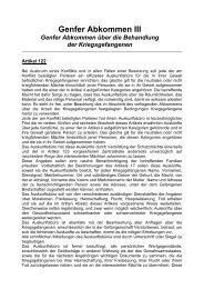 Suchdienstrelevanter Auszug aus den Genfer Konventionen