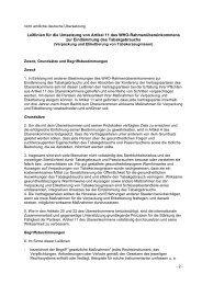 Leitlinien für die Umsetzung von Artikel 11 des WHO ...