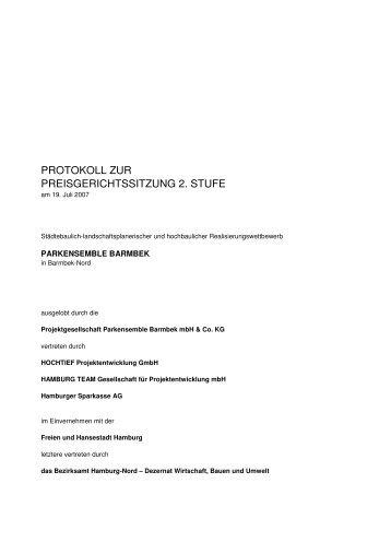 protokoll zur preisgerichtssitzung 2. stufe - D&K drost consult