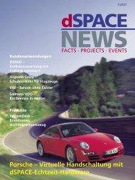 Porsche – Virtuelle Handschaltung mit dSPACE-Echtzeit-Hardware