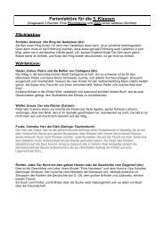 Ferienlektüre 2013 - Deutsche Schule Rom