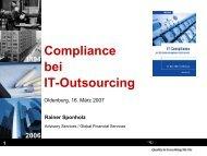 Compliance bei IT-Outsourcing - Deutsche Stiftung für Recht und ...