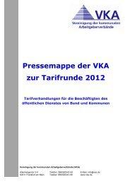 Pressemappe der VKA zur Tarifrunde 2012 (PDF-Dokument)
