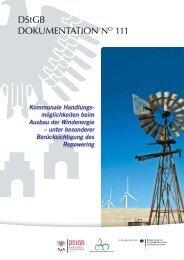 Kommunale Handlungsmöglichkeiten beim Ausbau der Windenergie