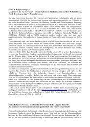 Marie A - Deutsche Sprachwissenschaft in Italien
