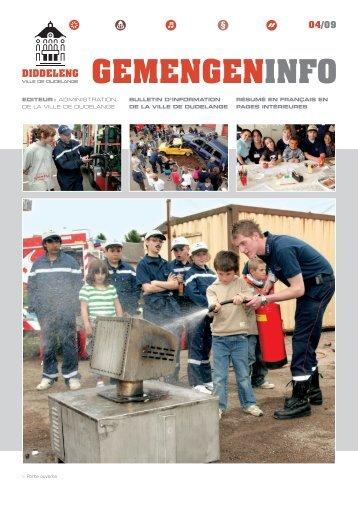 04/09 GemenGenInfo - Ville de Dudelange