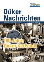 Düker Nachrichten Sommer 2013 - Düker GmbH & Co KGaA