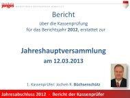 Bericht 2012 der Kassenprüfer - Heimatverein Düsseldorfer Jonges