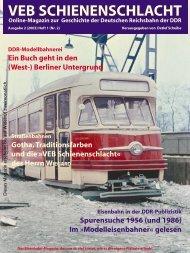 VEB Schienenschlacht, Online-Magazine, Ausgabe 01/02