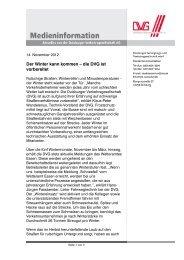 Diese Medieninformation als PDF (191 KB) - DVG Duisburger ...