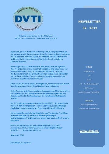 newsletter 02 2012 - Deutscher Verband für Tankinnenreinigung eV