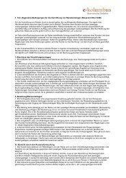 1. Teil: Allgemeine Bedingungen für die Vermittlung ... - E-kolumbus